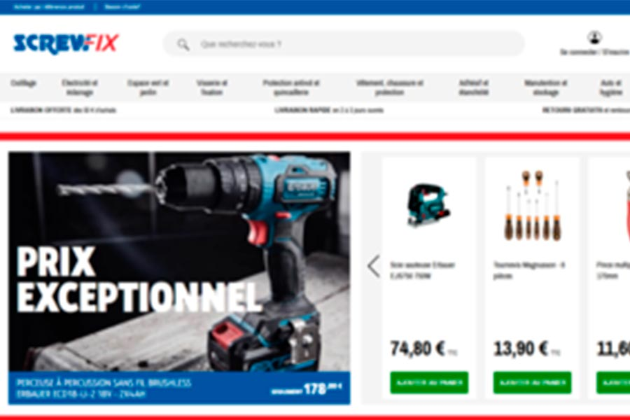 Kingfisher brings Screwfix online to France